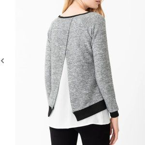 NWT Crossover Back Double Layer Grey Top 1X